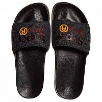 [해외]슈퍼드라이  Lineman Pool Slide Black / Black Grit / Hazard Orange