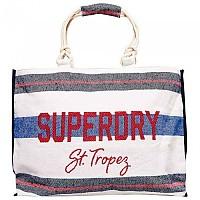 [해외]슈퍼드라이  Amaya Rope Tote Navy / Red Stripe