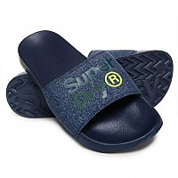 [해외]슈퍼드라이  Lineman Pool Slide Navy / Navy Grit / Fluro Lime