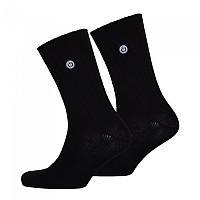 [해외]슈퍼드라이 University Socks Double Pack Black / Black
