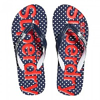 [해외]슈퍼드라이  Polkadot Flip Flop Dark Navy / Red / Optic