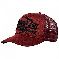 [해외]슈퍼드라이  Vintage Logo Edition Trucker Red Rock Grit