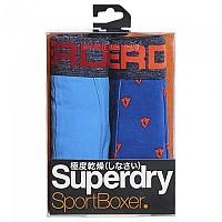 [해외]슈퍼드라이  Sport Boxer 2 Pack Coastal Blu / Lightning Bolt Aop