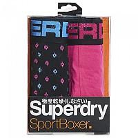 [해외]슈퍼드라이  Sport Boxer 2 Pack Miami Pink / Diamond Pop Aop