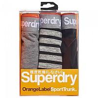 [해외]슈퍼드라이  Orange Label Trunk Triple Pack Gravel Grey Space Dye / Gravel Grey Stripe / Black