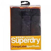 [해외]슈퍼드라이  Orange Label Trunk Triple Pack Black / Charcoal Black Space Dye / Charcoal Marl