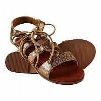 [해외]슈퍼드라이 Sienna Lace Up Sandal Metallic Gold Crackle