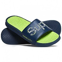 [해외]슈퍼드라이  Crewe Repeat Logo Slide Dark Navy / Dark Navy