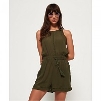 [해외]슈퍼드라이  High Neck Playsuit Wild Khaki