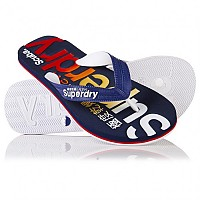 [해외]슈퍼드라이  Scuba Logo Faded Flip Flop French Navy / Optic / Poppy Red / Orange