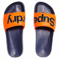 [해외]슈퍼드라이  Pool Slide Dark Navy / Hawaii Orange