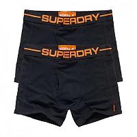 [해외]슈퍼드라이  Sport Boxer Double Pack Black / Black / Orange