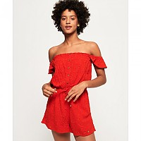 [해외]슈퍼드라이  Lilah Schiffli Playsuit Ahoy Red