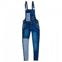 [해외]슈퍼드라이  Emmins Dungaree Patched Indigo