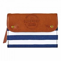 [해외]슈퍼드라이  Evey Fold Purse Navy Stripe