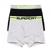 [해외]슈퍼드라이  Sport Boxer Double Pack Grey Marl / Black