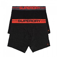 [해외]슈퍼드라이  Sport Boxer Double Pack Charcoal Black Marl / Black