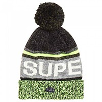 [해외]슈퍼드라이  Super Logo Beaniie Charcoal / Lime Mix