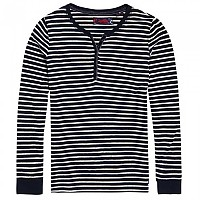 [해외]슈퍼드라이  Stripe Grandad Eclipse Navy Stripe