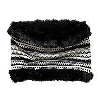 [해외]슈퍼드라이  Nordic Fur Snood Black / Cream