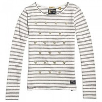 [해외]슈퍼드라이  Tansy Stripe L/S Top Foxglove White Stripe