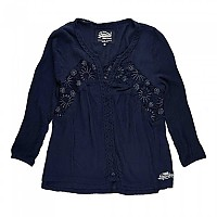 [해외]슈퍼드라이  Winter Eyelet Lace Blouse Eclipse Navy