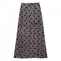 [해외]슈퍼드라이  Festival Button Maxi Skirt Ditsy Flow Stencil Black
