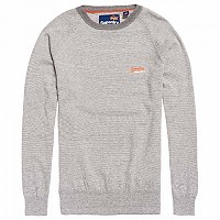 [해외]슈퍼드라이  Orange Label Cotton Crew Flannel Feeder Grey