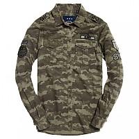 [해외]슈퍼드라이  Military Shirt Faded Camo