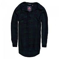 [해외]슈퍼드라이  Supersized Shirt Navy / Green / Black Check