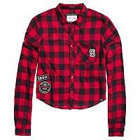 [해외]슈퍼드라이  Leonie Badged Shirt Big Cherry Black Gingham