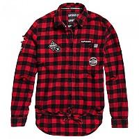 [해외]슈퍼드라이  Zephyr Check Tie Front Black / Red Gingham