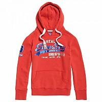 [해외]슈퍼드라이  Vintage Logo Bonded Satin Entry Hood Dark Red