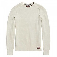 [해외]슈퍼드라이  Garment Dyed LA Textured Crew Off White