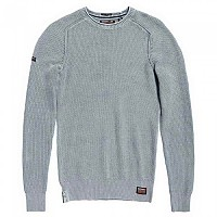 [해외]슈퍼드라이  Garment Dyed LA Textured Crew Worn Chambray