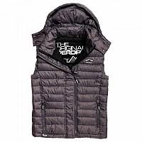 [해외]슈퍼드라이 Fuji Double Zip Vest Charcoal Marl