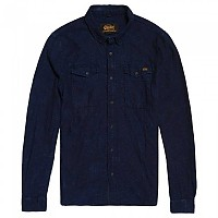 [해외]슈퍼드라이  드래그웨이 Denim L/S Shirt Indigo Box Weave