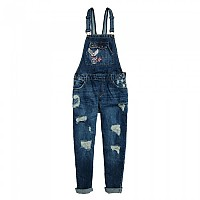 [해외]슈퍼드라이  Jodie Boyfriend Dungaree Badged Indigo