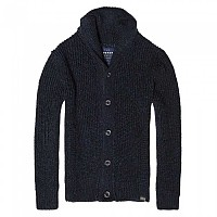 [해외]슈퍼드라이  Jacob Shawl Cardigan Navy / Black Twist