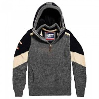 [해외]슈퍼드라이  Super Ski Chevron Hood Grey Grit / Dark Navy / Off White