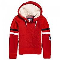 [해외]슈퍼드라이  Winter Sports Diagonal Hood Red