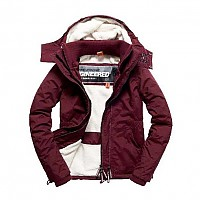 [해외]슈퍼드라이  Hood Fur 쉐르파 Wind Attacker Plum Berry / Black