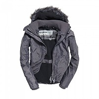 [해외]슈퍼드라이  Hood Fur 쉐르파 Wind Attacker Mid Charcoal Marl / Black