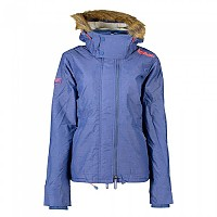 [해외]슈퍼드라이  Hood Fur 쉐르파 Wind Attacker Light Blue Marl / Fluro Cherry