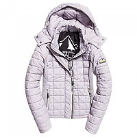 [해외]슈퍼드라이  Hooded Box Quilt Fuji Grey Cloud Marl
