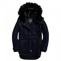 [해외]슈퍼드라이  Fjord Ovoid Parka Eclipse Navy Melton