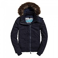 [해외]슈퍼드라이  Microfibre Fur Hood Windbomber Super Dark Navy