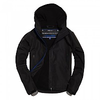 [해외]슈퍼드라이  Hooded Elite Windcheater Black