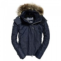 [해외]슈퍼드라이  Hooded Fur Winter Windattacker New Navy Marl