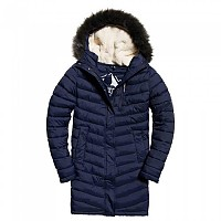 [해외]슈퍼드라이  Chevron Faux Fur Supr Fuji Navy